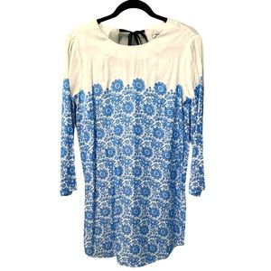 Pepe Jeans | Blue and White Shift Dress (M)